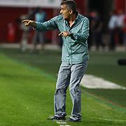 Trabzonspor's coach Senol Gunes during their Turkish superleague soccer derby match Trabzonspor between Sivasspor at the Avni Aker Stadium in Trabzon Turkey on Sunday, 16 September 2012. Photo by TURKPIX