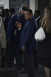 April 24, 2018 - Warsaw, Poland - President of Ehtiopia Mulata Teshome visits the Tomb of the Unknown Soldier on April 24, 2018 in Warsaw, Poland. Traditionally heads of state visiting Poland are given the opporutnity to pay their respects to unnamed victims of Polish wars on Pilsudski Square. (Credit Image: © Jaap Arriens/NurPhoto via ZUMA Press)