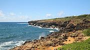 Couple Hiking, Mahaulepu Heritage Trail, Kauai, Hawaii