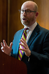 © Licensed to London News Pictures. 27/03/2017.  UKIP Leader Paul Nuttall makes a keynote speech setting out six key tests by which the country can judge Theresa May's Brexit negotiations. London, UK. Photo credit: Ray Tang/LNP