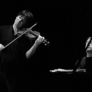 Joshua Bell and Jeremy Denk rehearsing