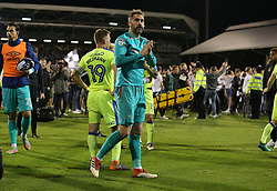 Scott Carson of Derby County looks dejected  after the match - Mandatory by-line: Paul Terry/JMP - 14/05/2018 - FOOTBALL - Craven Cottage - Fulham, England - Fulham v Derby County - Sky Bet Championship Play-off Semi-Final - Mandatory by-line: Paul Terry/JMP - 14/05/2018 - FOOTBALL - Craven Cottage - Fulham, England - Fulham v Derby County - Sky Bet Championship Play-off Semi-Final