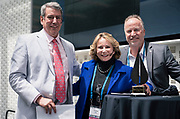 Tom Still, Sue Marks and Kevin Hendricks at the Wisconsin Entrepreneurship Conference at Venue 42 in Milwaukee, Wisconsin, Tuesday, June 4, 2019.