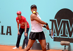 May 7, 2019 - Madrid, Spain - Naomi Osaka (JPN) in her match against Sara Sorribes (SPA) during day four of the Mutua Madrid Open at La Caja Magica in Madrid on 7th May, 2019. (Credit Image: © Juan Carlos Lucas/NurPhoto via ZUMA Press)