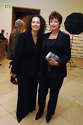 Left to right,  Charmaine Eggberry VP and Managing Director, EMEA sponsors of the exhibition and MARIE EGGBERRY at a private view of Bryan Adam's photographs entitled 'Modern Muses' held at The National Portrait Gallery, London on 11th March 2008.<br /><br />NON EXCLUSIVE - WORLD RIGHTS