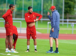 ROTTACH-EGERN, GERMANY - Friday, July 28, 2017: Liverpool's manager Jürgen Klopp and Emre Can during a training session at FC Rottach-Egern on day three of the preseason training camp in Germany. (Pic by David Rawcliffe/Propaganda)