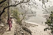 Village trail- Saryu River.