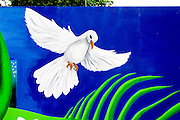 Street art of a dove at the Millennium Park.  Chicago Illinois USA