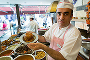 Chef at Ciya Sofrasi Turkish restaurant serving Ottoman specialities in Kadikoy district Asian side Istanbul, East Turkey