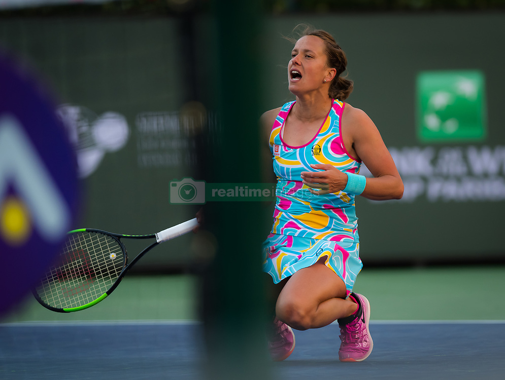 March 8, 2019 - Indian Wells, USA - Barbora Strycova of the Czech Republic in action during her second-round match at the 2019 BNP Paribas Open WTA Premier Mandatory tennis tournament (Credit Image: © AFP7 via ZUMA Wire)