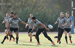 November 20, 2018 - Rome, Italy - Rugby All Blacks training - Vista Norther Tour.Team warm up with the ball at University Sport Center in Rome, Italy on November 20, 2018. (Credit Image: © Matteo Ciambelli/NurPhoto via ZUMA Press)
