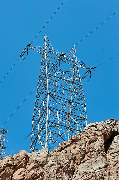 Power cable pylons, , Hoover Dam , Nevada, USA