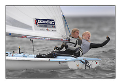 470 Class European Championships Largs - Day 6..GBR849, Joanna FREEMAN, Katie TOMSETT, Parkstone YC