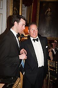 TOM BEST; VISCOUNT LINLEY, Professor Mikhail Piotrovsky Director of the State Hermitage Museum, St. Petersburg and <br /> Inna Bazhenova Founder of In Artibus and the new owner of the Art Newspaper worldwide<br /> host THE HERMITAGE FOUNDATION GALA BANQUET<br /> GALA DINNER <br /> Spencer House, St. James's Place, London<br /> 15 April 2015