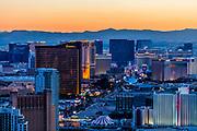 Aerial view of the Strip at night, Las Vegas, Nevada, USA