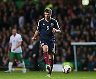 Grant Hanley of Scotland  - UEFA Euro 2016 Qualifier - Scotland vs Republic of Ireland - Celtic Park Stadium - Glasgow - Scotland - 14th November 2014  - Picture Simon Bellis/Sportimage