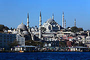 the large Yeni Camii in Istanbul seen from the Sea of Marmara