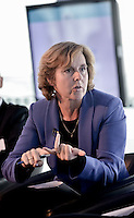 Connie Hedegaard speaking during the panel discussion at the European Commission's 'Visions For A World You Like' launch conference, held at City Hall, London. Conference photographer Stonehouse Photographic covered the event for the European Commission in London