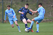 Leeds United defender Oliver Casey battles for possession during the U18 Professional Development League match between Coventry City and Leeds United at Alan Higgins Centre, Coventry, United Kingdom on 13 April 2019.