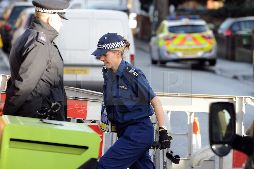 © Licensed to London News Pictures. 05/01/2016<br /> Police at the front of the house.<br /> <br /> Sian Blake's home in Erith,Kent has turned into a crime scene today (05.01.2016) with officers from the Met's Homicide and Major Crime Command leading the search for the missing family.<br /> Police teams at the home of missing EX-EastEnders actress SIAN BLAKE who has been missing along with her Boyfriend and two sons since early December 2015.<br /> (Byline:Grant Falvey/LNP)