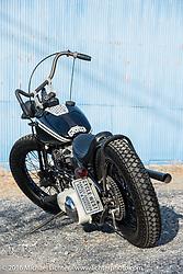 Hiromichi Nishiyama's Cycle West custom rigid framed Harley-Davidson Panhead after the Mooneyes Yokohama Hot Rod & Custom Show. Japan. December 8, 2016.  Photography ©2016 Michael Lichter.
