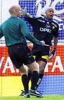 16.april2001: Emille Baron, LSK. Lillestrøm - Bryne. Eliteserien.