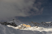 09.11.2008.Alpine landscape with snow..Gran Paradiso National Park, Italy