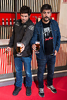 Music group Estopa, Jose Muñoz (L) and David Muñoz (R) during the presentation of the new spot of  Mahou 5 Estrellas at Capitol Cinemas in Madrid. March 29, 2016. (ALTERPHOTOS/Borja B.Hojas)