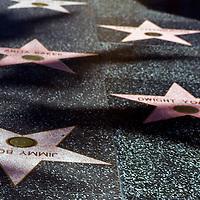 USA, California, Los Angeles. Hollywood Walk of Fame on Hollywood Boulevard.