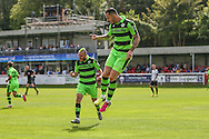 Forest Green Rovers Rhys Murphy (39) celebrates his goal, 2-2 during the Vanarama National League match between Dover Athletic and Forest Green Rovers at Crabble Athletic Ground, Dover, United Kingdom on 10 September 2016. Photo by Shane Healey.