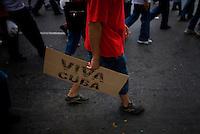May Day celebration in Havana, Cuba. May. 1, 2008.