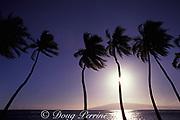 sunset over Lanai, as seen from <br /> Lahaina, Maui, Hawaii, USA ( Pacific )