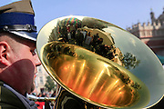 military Brass band. Photographed in Krakow, Poland