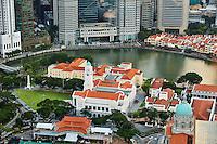 Singapour, le quartier colonial et Boat Quay, le theatre Victoria // Singapore, Colonial District and Boat Quay, Victoria theatre and concert hall