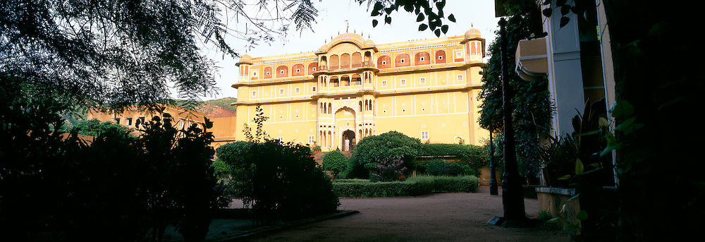 Now a Hotel, the Samode Palace was built in the 19th century as a private residence of the Samode Royal Family. It is an example of Rojput-Mohghul architecture. Samode, Rajasthan, Jaipur, India