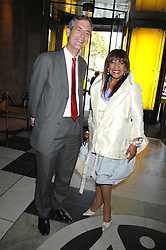 Former member of The Supremes MARY WILSON and MARK JONES director of the V&A at a private view of 'The Story of The Supremes' from the Mary Wilson collection at the V&A museum, Cromwell Road, London on 12th May 2008.<br /><br />NON EXCLUSIVE - WORLD RIGHTS
