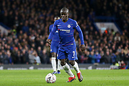 Chelsea Defender Ngolo Kante during the The FA Cup 5th round match between Chelsea and Manchester United at Stamford Bridge, London, England on 18 February 2019.