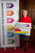 Anne McIntosh MP supporting the Enough Food for Everyone?IF campaign. .MP's and Peers attended the parliamentary launch of the IF campaign in the State Rooms of Speakers House, Palace of Westminster. London, UK.