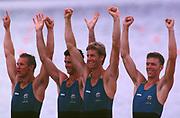 1996 Olympics Games - Atlanta – Georgia – USA<br /> Australian Oarsome Foursome. AUS M4- <br /> right to left, Mike McKay – 3 Nick Green -  2 James Tomkins  -  Bow  Drew Ginn