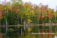 64776-01920 Red Jack Lake in fall color Alger Co.  MI