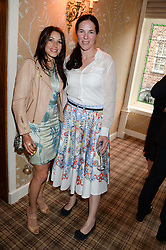 Left to right, LAUREN KEMP and CLAIRE JAMES at the Blue Monday Cheese Launch presented by Alex James and held at The Cadogan Hotel, Sloane street, London on 11th June 2013.