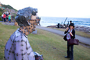 The world's largest free-to-the-public outdoor sculpture exhibition, Sculpture by the Sea, Bondi. .Hannah Kidd- Toads On Tour.