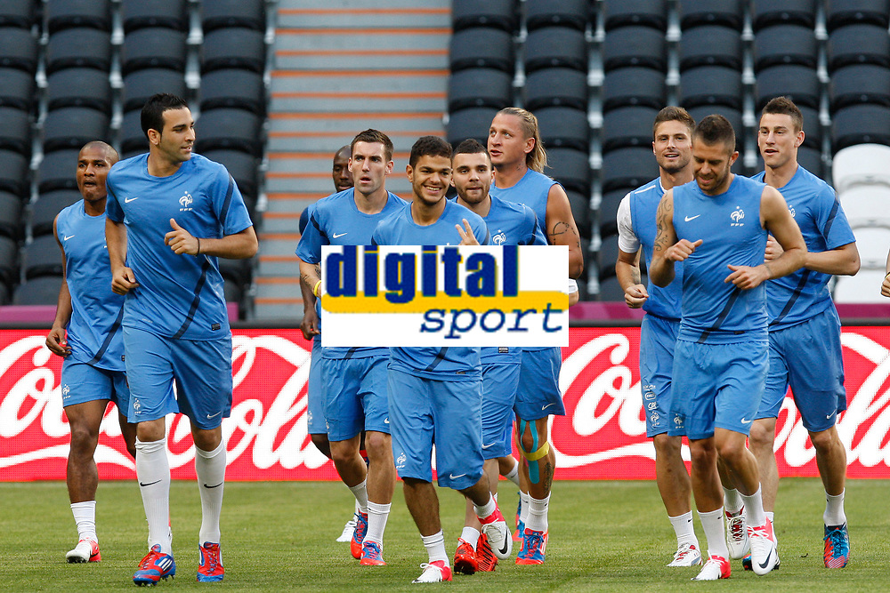 FOOTBALL - UEFA EURO 2012 - DONETSK - UKRAINE - GROUP STAGE - GROUP D - FRANCE TRAINING AND PRESS CONFERENCE - 10/06/2012 - PHOTO PHILIPPE LAURENSON / DPPI -