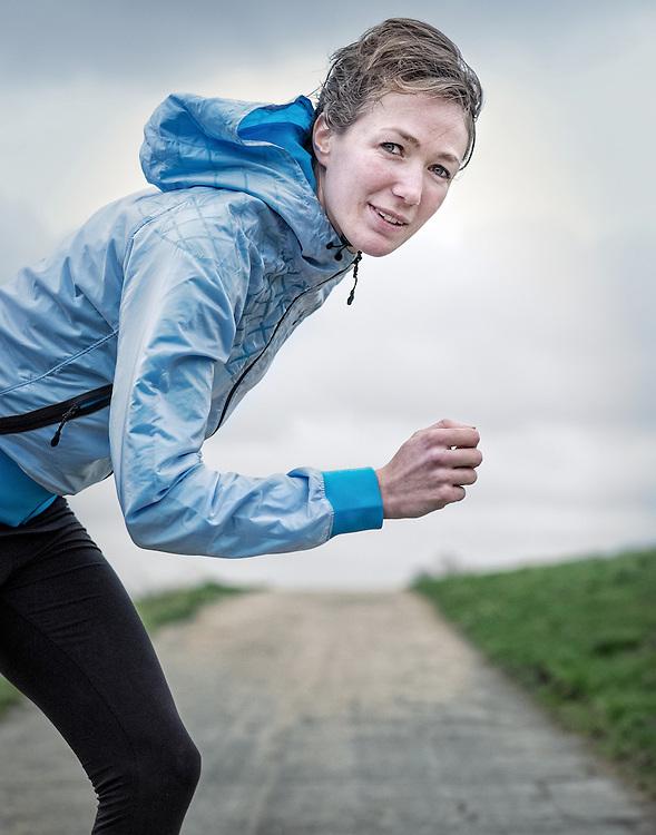 Netherlands. Amsterdam, 22-12-2014. Photo: Patrick Post. Portrait of athlete Yvonne Hak.