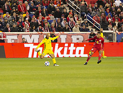 STYLEPREPENDFederico Higuain (10) of Columbus Crew SC kicks the ball during 2nd leg MLS Cup Eastern Conference semifinal game against Red Bulls at Red Bul Arena Red Bulls won 3 - 0 agregate 3 - 1 and progessed to final  (Credit Image: © Lev Radin/Pacific Press via ZUMA Wire)