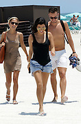May 3, 2016 - Miami, FL, United States - <br /> <br /> Kourtney Kardashian (C) enjoys a day on the beach with friends on May 3 2016 in Miami, Florida<br /> ©Exclusivepix Media