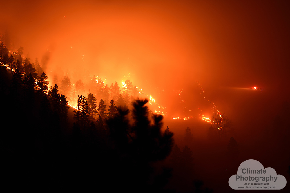 Raw photos- no post-processing, straight out of camera. Boulder Sunshine Canyon Fire, March 19, 2017.