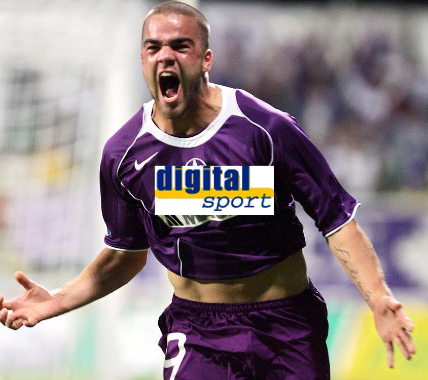 Fotball<br /> Foto: Gepa/Digitalsport<br /> NORWAY ONLY<br /> <br /> 11.08.2005<br /> UEFA Cup, MSK Zilina vs FK Austria Magna Wien. Bild zeigt Filip Sebo (A.Wien) beim Jubel