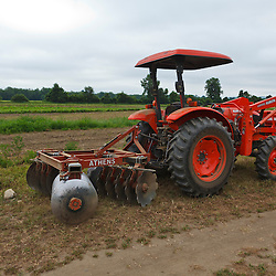 A tractor at the Crimson and Clover Farm in Northampton, Massachusetts.