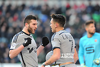 Fotball<br /> Frankrike<br /> Foto: Panoramic/Digitalsport<br /> NORWAY ONLY<br /> <br /> joie Lucas Ocampos apres son but - Andre Pierre Gignac (Marseille)